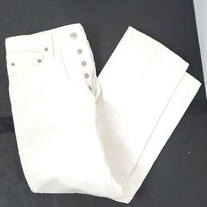 Levi's 501 5 button up white jeans size 33 X 30
